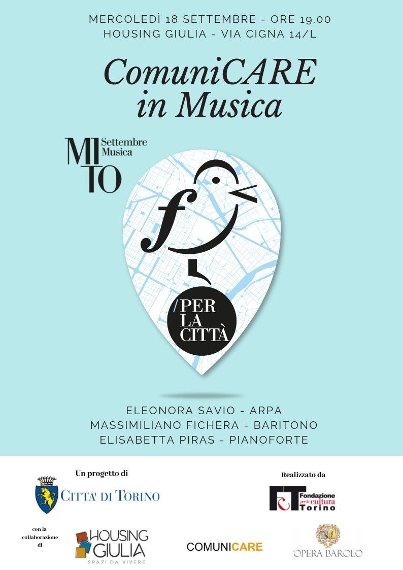 MITO Settembre Musica | Mercoledi 18 Settembre Ore 19,00             Momenti Musicali In Housing Giulia